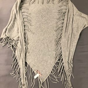 Juicy Couture Grey Fringe Scarf